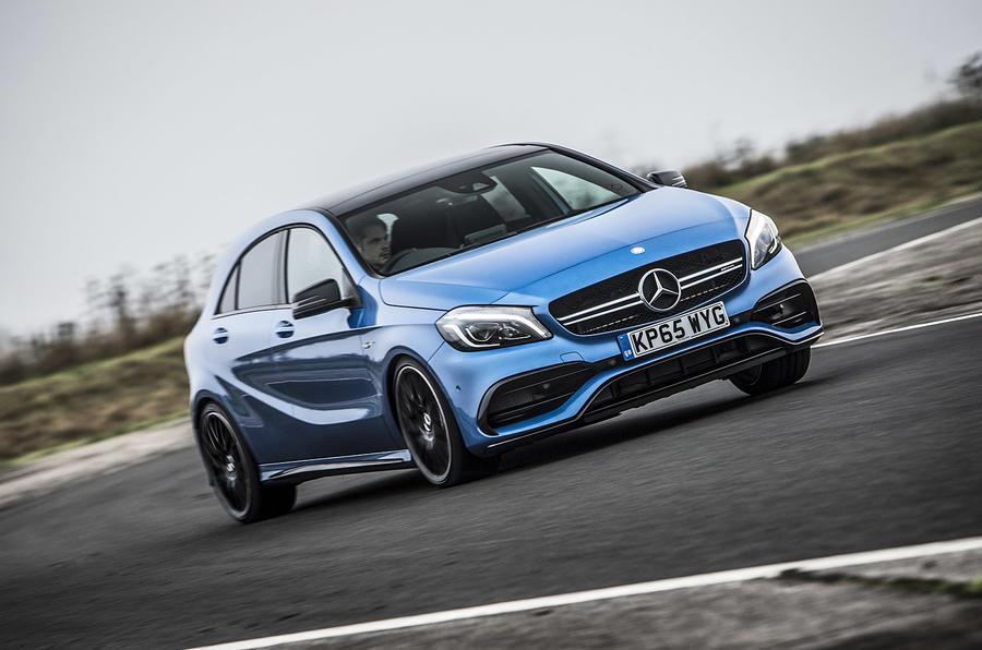 Mercedes-AMG A 45 cornering