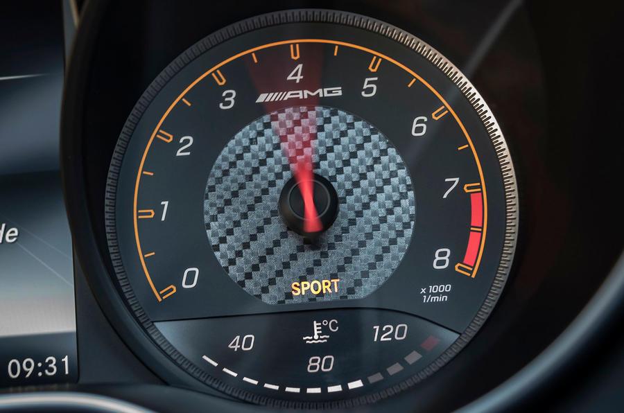 Mercedes-AMG GT C Roadster instrument cluster