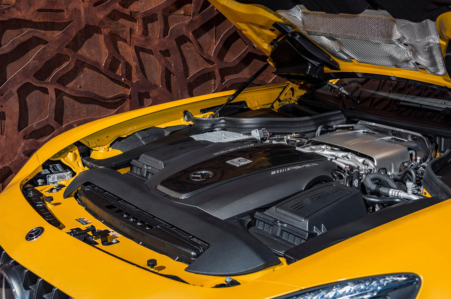 4.0-litre V8 Mercedes-AMG GT C Roadster engine
