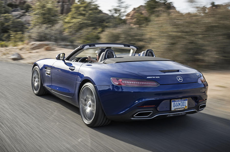 It's the slower and cheaper of the two AMG GT Roadsters, but these ...