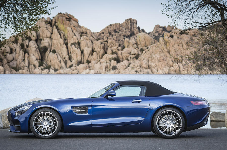 Mercedes-AMG GT Roadster roof up