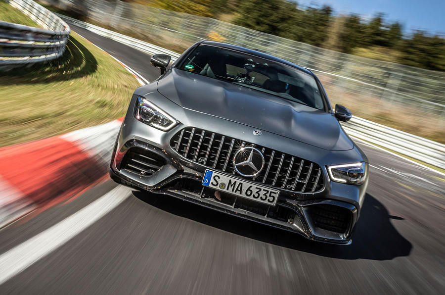 Mercedes-AMG GT 4-door coupe Nurburgring front