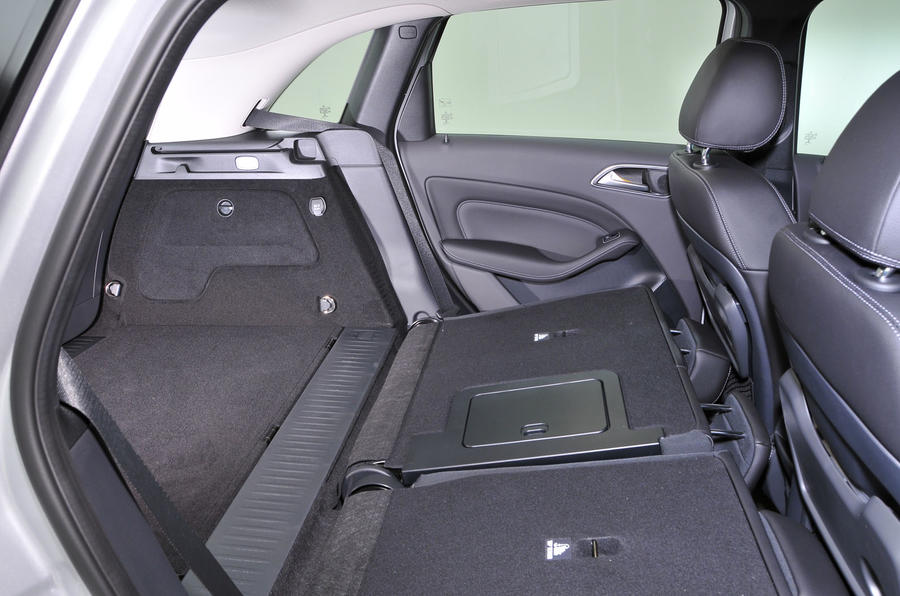 Mercedes-Benz B-Class folded rear seats
