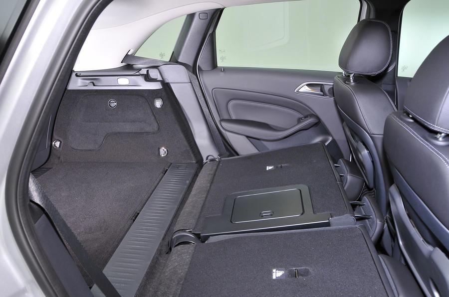Mercedes-Benz B-Class folded rear seats