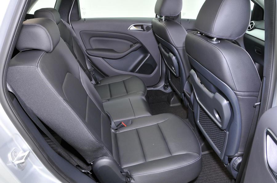 Mercedes-Benz B-Class rear seats