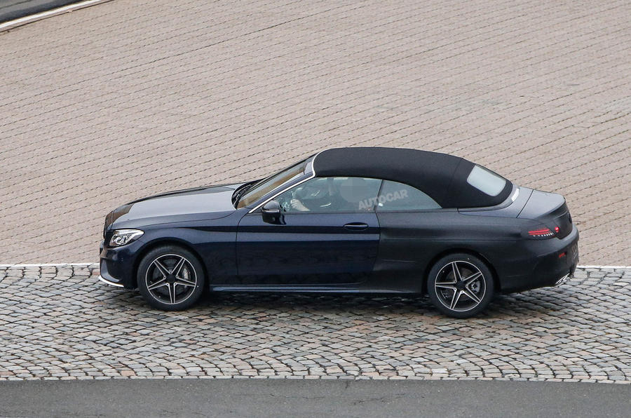 2016 mercedes c class cabriolet previewed ahead of geneva show debut autocar. Black Bedroom Furniture Sets. Home Design Ideas