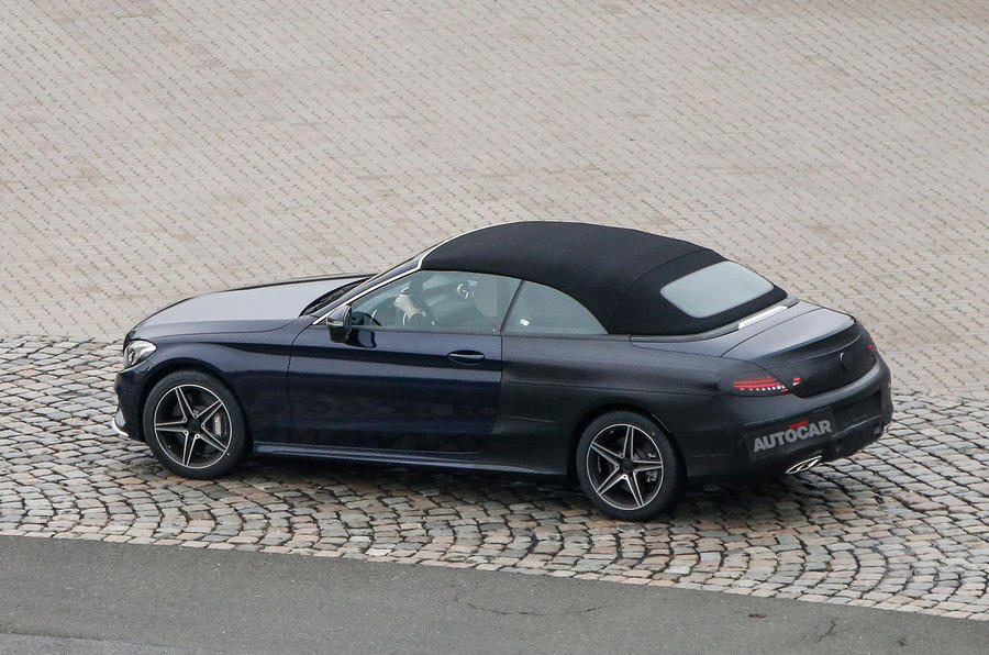 2016 mercedes c class cabriolet previewed ahead of geneva. Black Bedroom Furniture Sets. Home Design Ideas