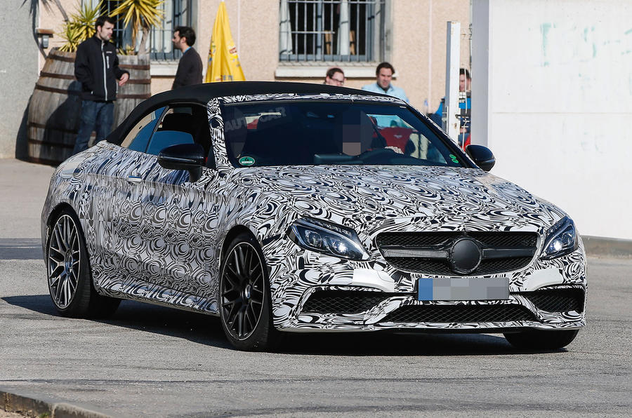 2016 Mercedes AMG C63 Cabriolet spied testing