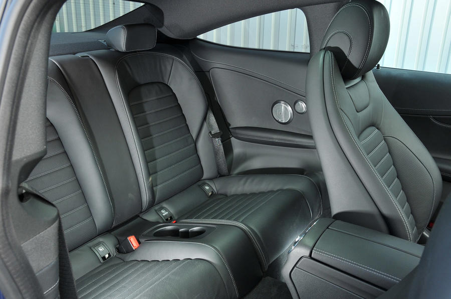 Mercedes-Benz C 250 d Coupé rear seats