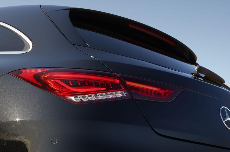 Mercedes CLA Shooting Brake detail bootlid