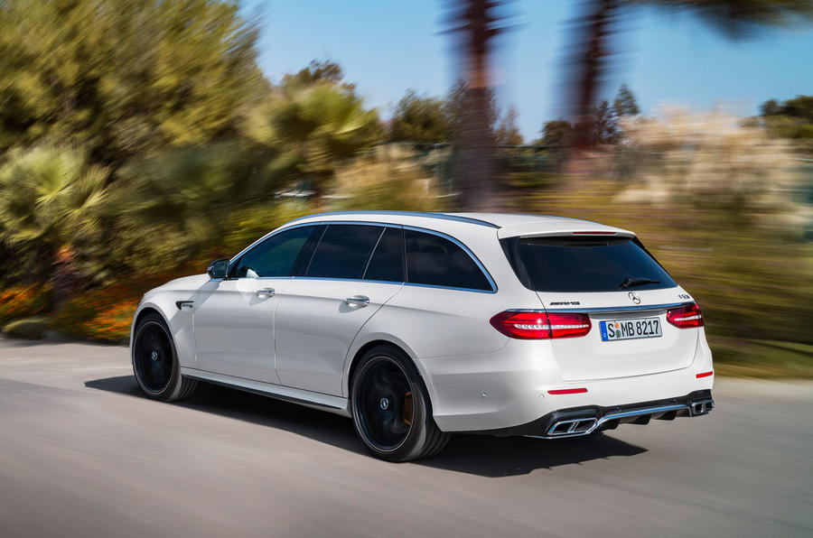 Mercedes-AMG E63 Estate side and back profile