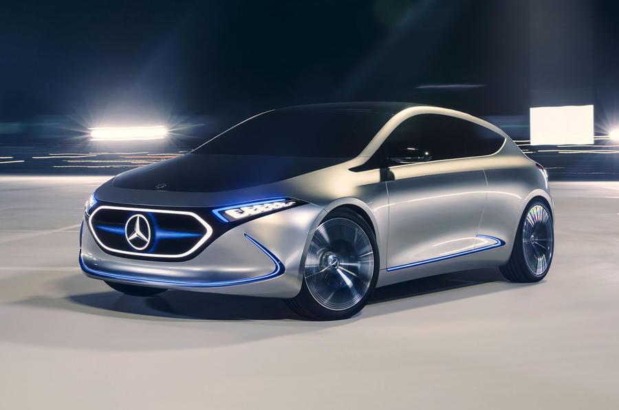 Mercedes benz unveils electric eqa hatchback concept autocar for Mercedes benz hatchback models