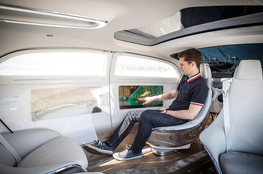 mercedes benz f015 autonomous concept first ride autocar. Black Bedroom Furniture Sets. Home Design Ideas
