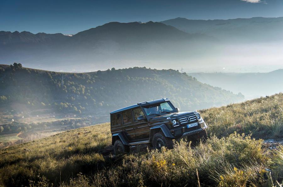 Mercedes-Benz G 500 in the wilderness