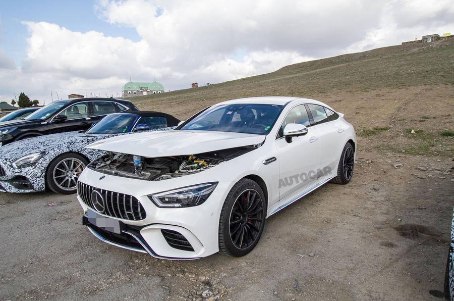 2019 Mercedes-AMG GT73 4-door hybrid spy shots
