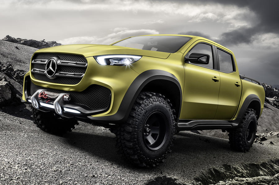 mercedes benz x class concept previews new pick up autocar. Black Bedroom Furniture Sets. Home Design Ideas