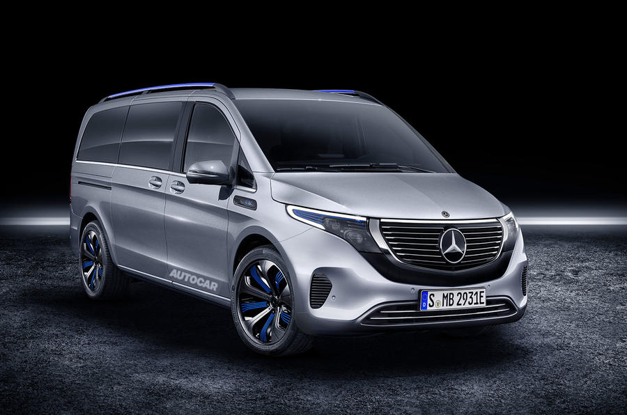 Mercedes V-Class facelift: fully-electric version to debut at Geneva