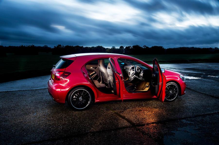 Mercedes-Benz A 200 d doors opened