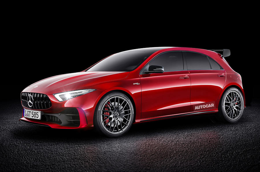 2019 mercedes amg a45 to offer 400bhp from 2 0 litre engine autocar. Black Bedroom Furniture Sets. Home Design Ideas