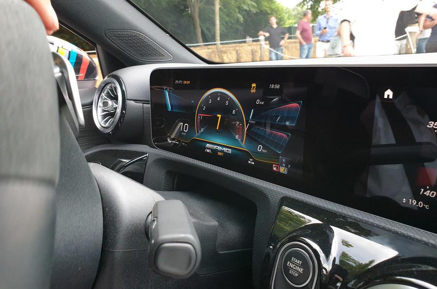 Mercedes-AMG A45 S drift mode dashboard