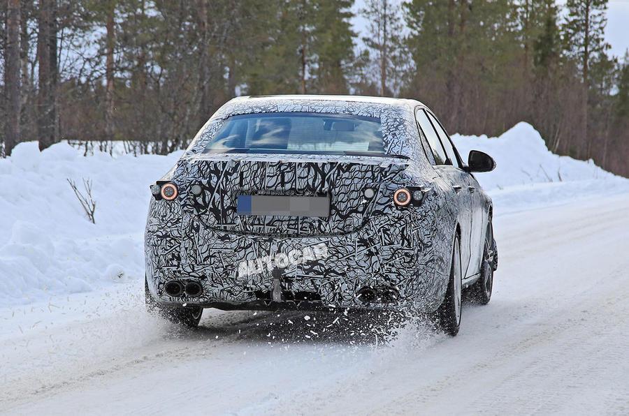 Mercedes-AMG C53 spy images - back end
