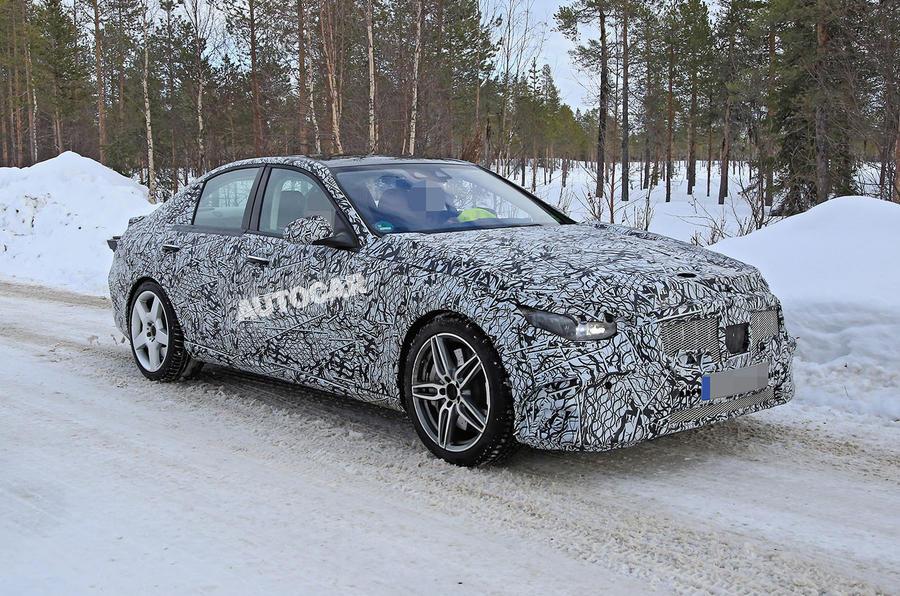 Mercedes-AMG C53 spy images - front