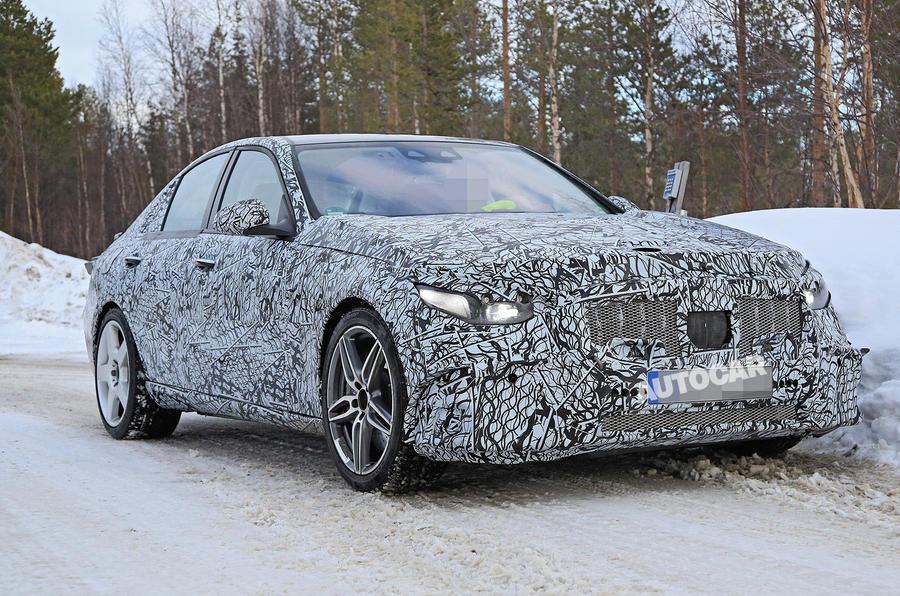 Mercedes-AMG C53 spy images - nose