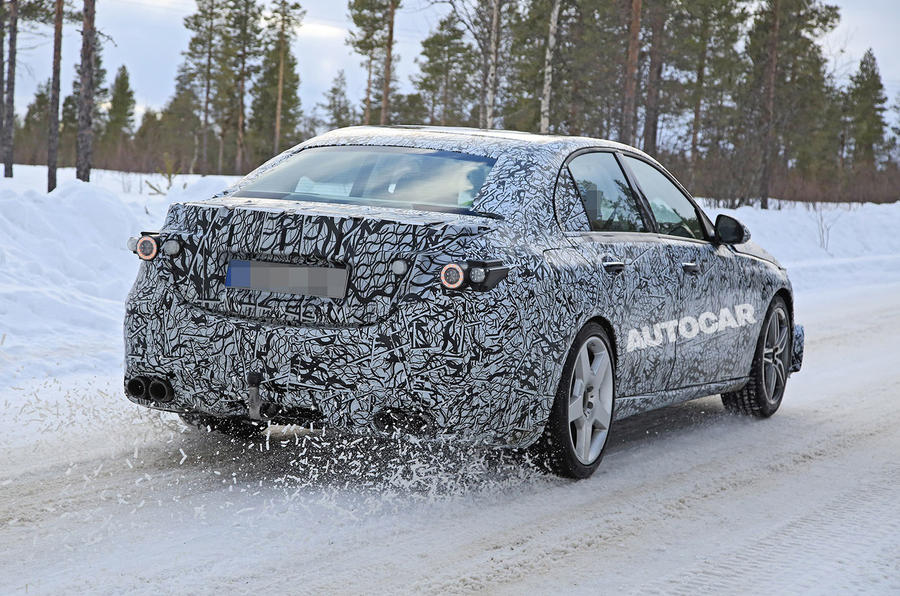 Mercedes-AMG C53 spy images - rear