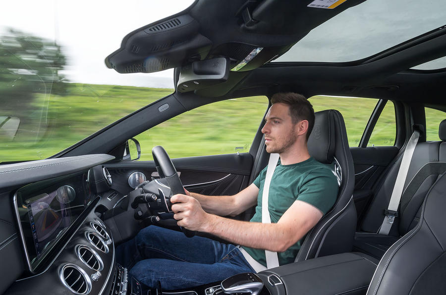 Dan Prosser driving the Mercedes-AMG E63 S Estate