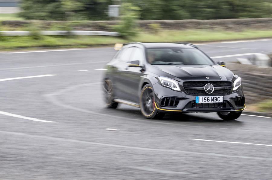 Mercedes-AMG GLA 45 cornering