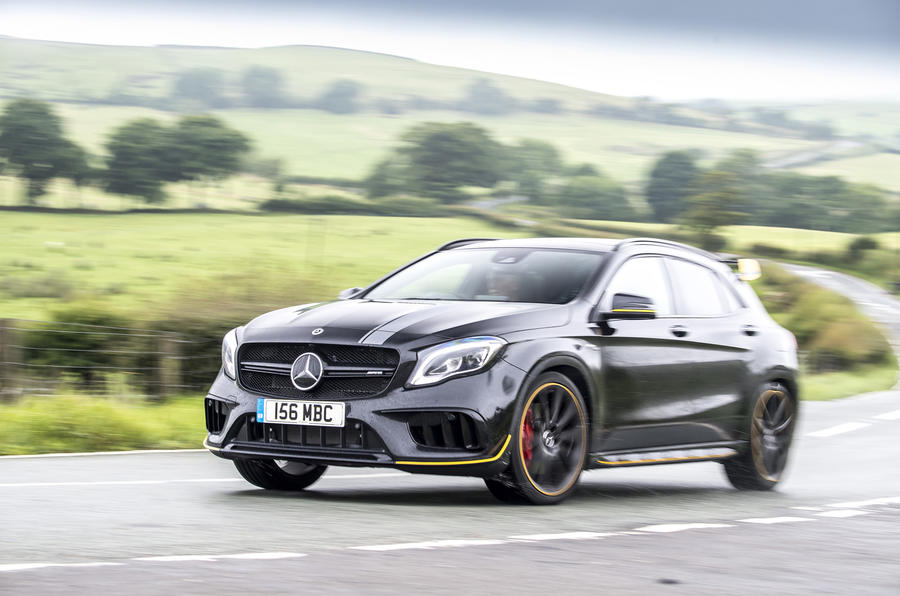 Mercedes-AMG GLA 45 on the road