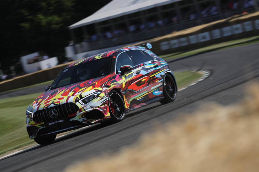 Mercedes-AMG A45 S cornering