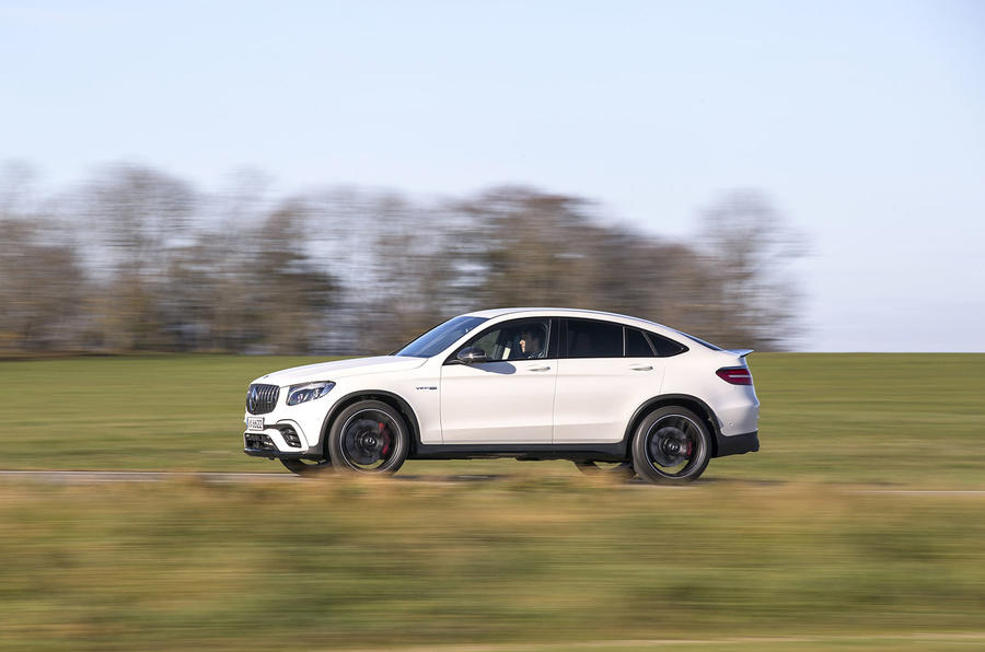 Mercedes-AMG GLC 63 S Coupé in the countryside