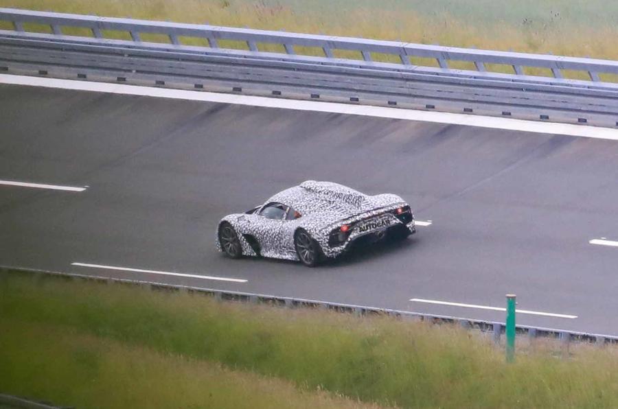 Mercedes AMG One spyshots rear side