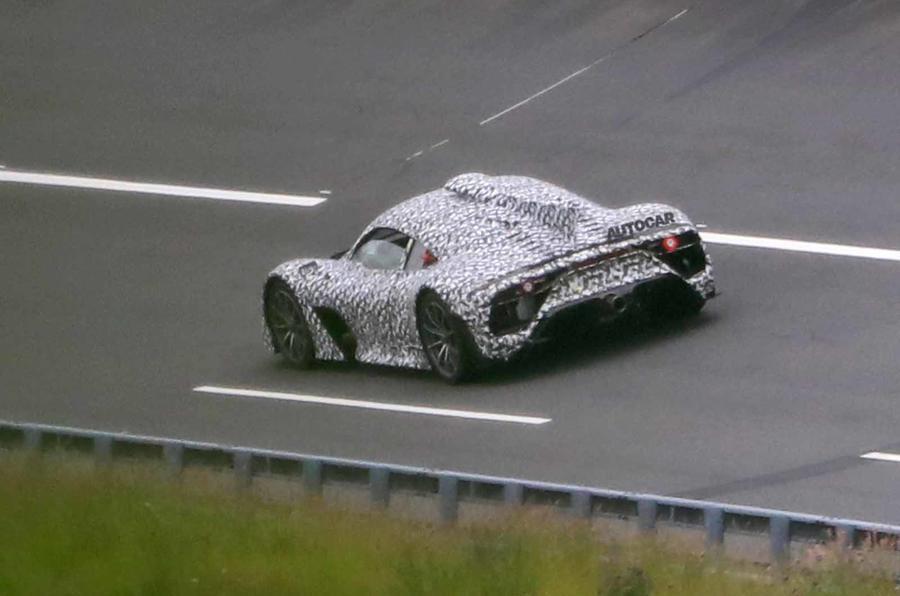 Mercedes AMG One spyshots side rear