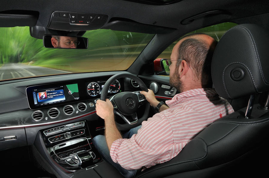 Matt Prior driving the Mercedes-Benz E-Class Estate