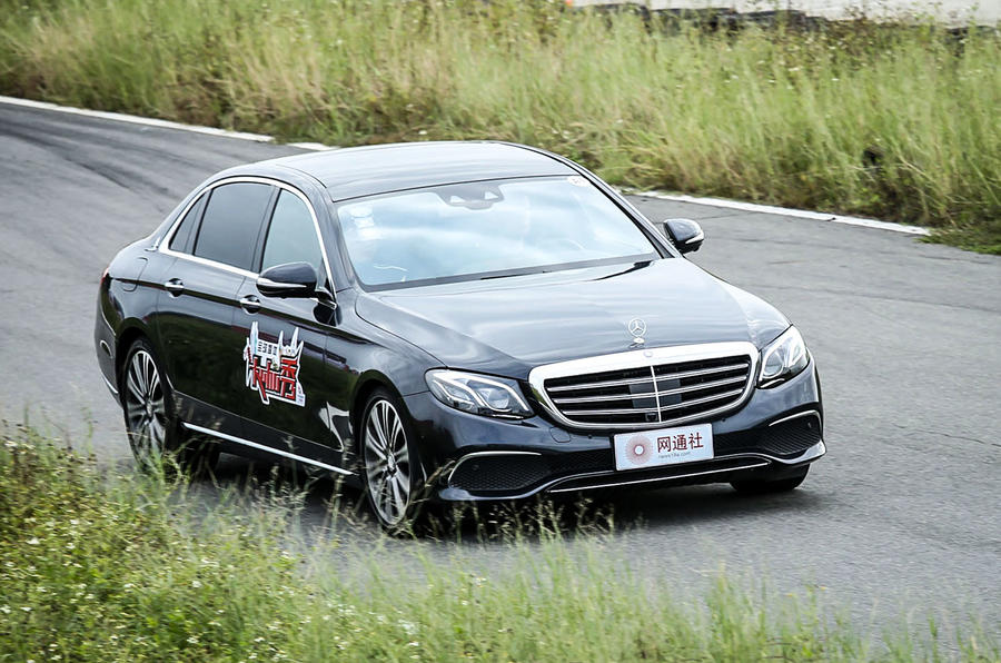 Mercedes-Benz E-Class L on the road