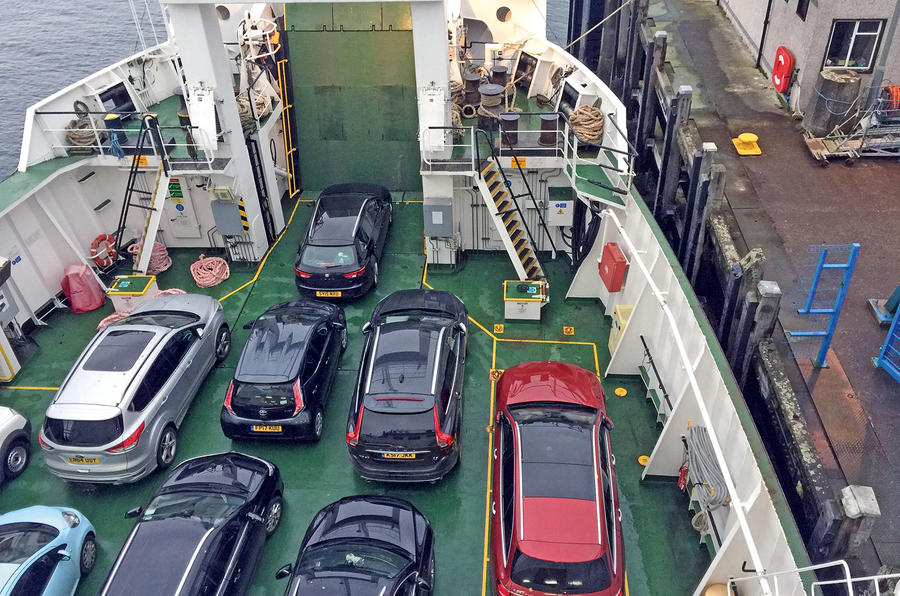 Mercedes-Benz E-Class Estate aboard the ferry