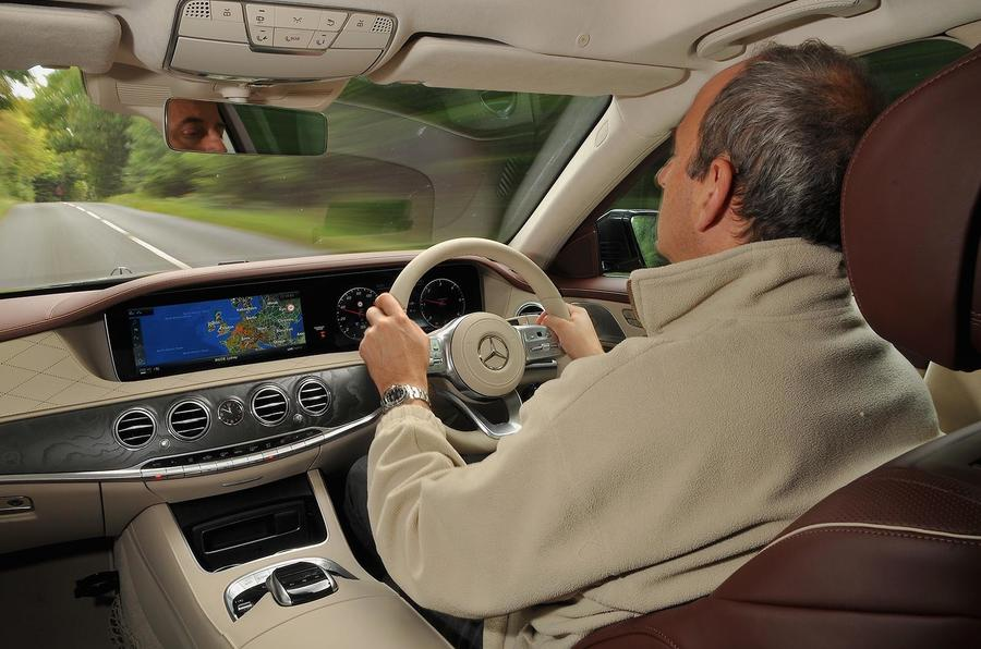 Frankel driving the Mercedes-Benz S350d
