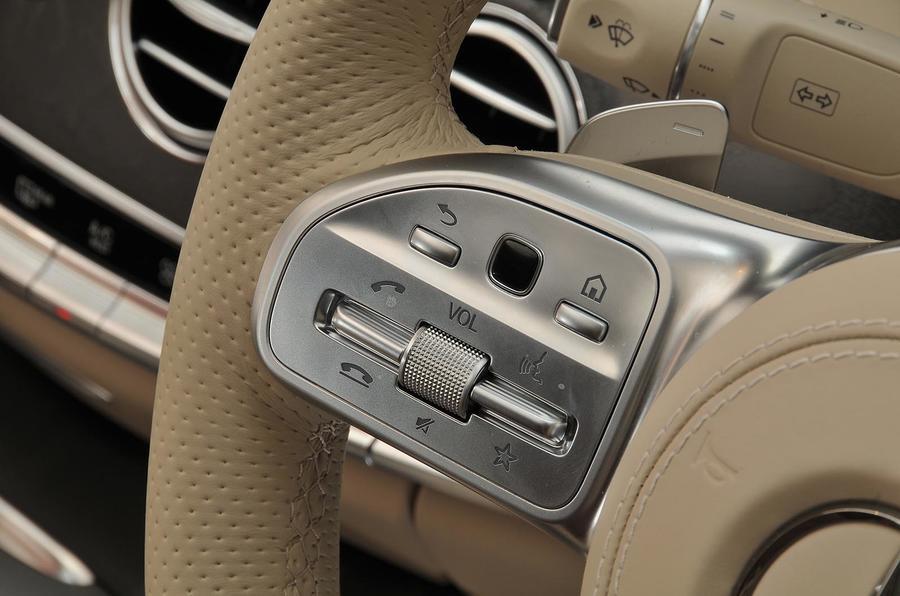 Mercedes-Benz S350d steering wheel controls