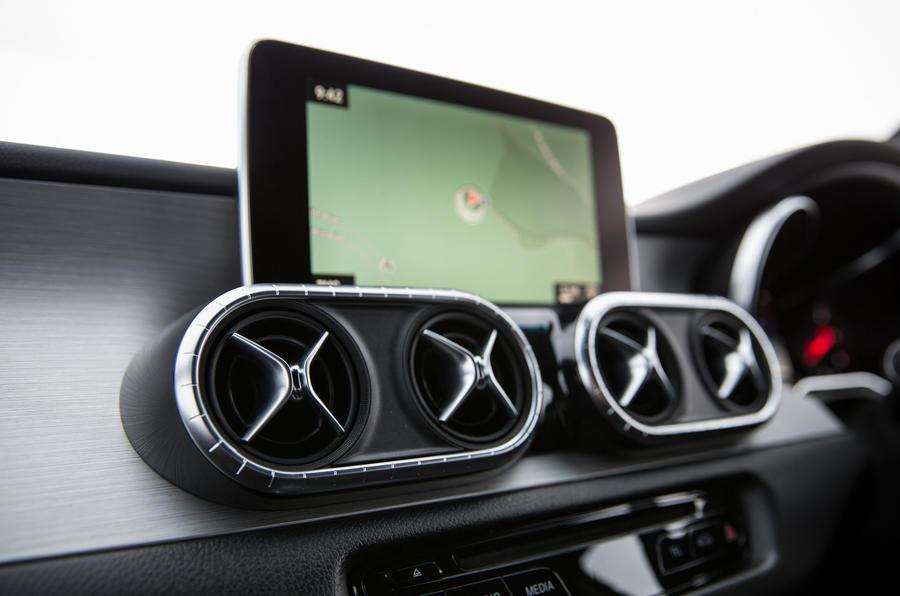Mercedes-Benz X-Class infotainment system