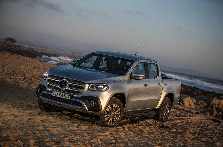 Mercedes-Benz X-Class on sand