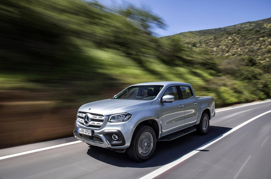 Mercedes-Benz X-Class on the road
