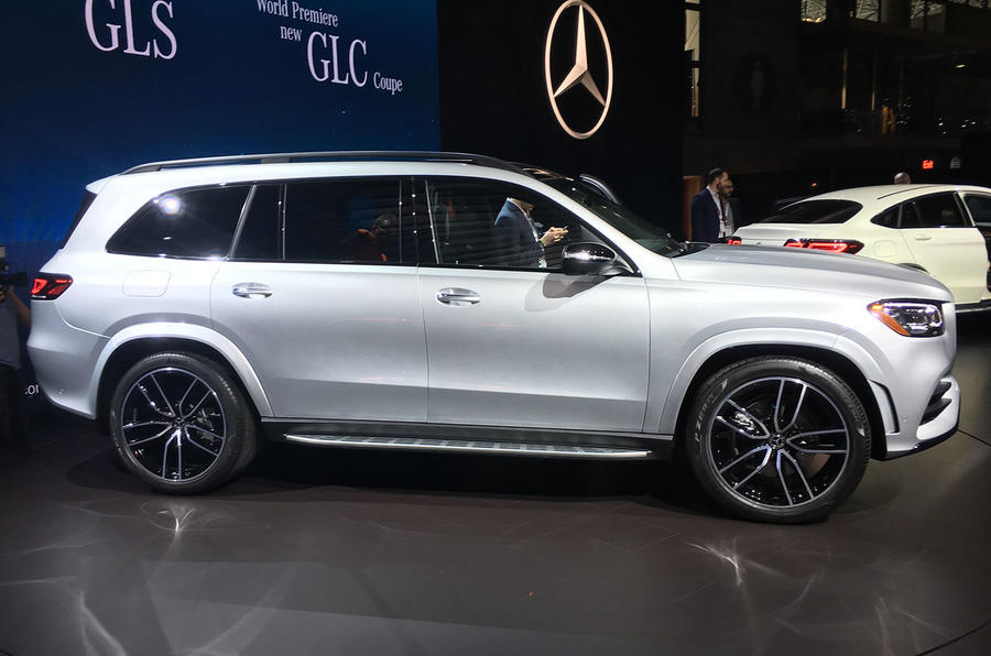 Mercedes-Benz GLS 2019 New York motor show reveal - right side
