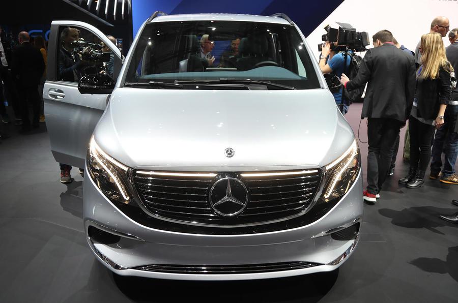 Mercedes Concept EQV Geneva stand - front end