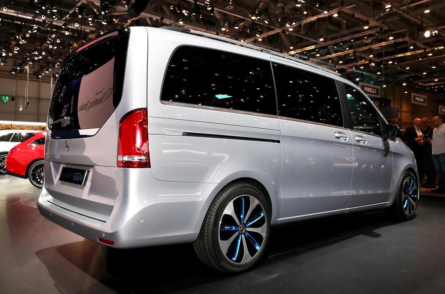 Mercedes Concept EQV Geneva stand - rear
