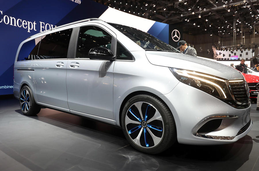 Mercedes Concept EQV Geneva stand - front