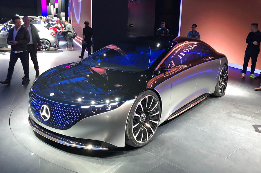 Mercedes Vision EQS Concept at Frankfurt - front