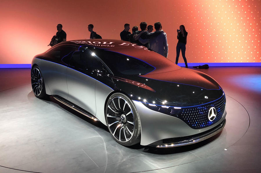 Mercedes Vision EQS Concept at Frankfurt - nose