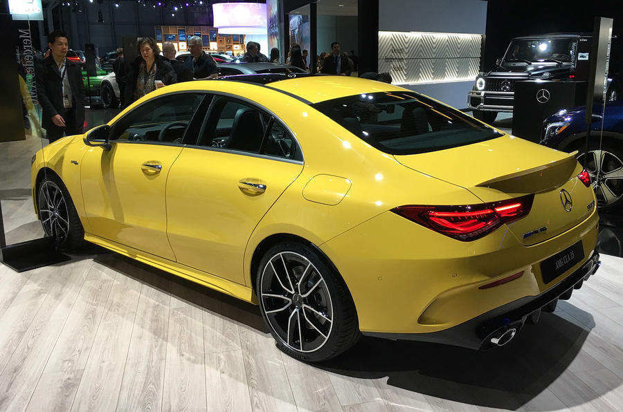 Mercedes-AMG CLA35 - New York motor show 2019 - side